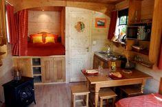 French Caravan Interior
