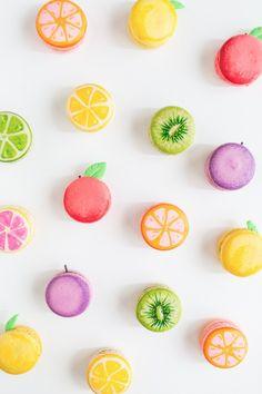 DIY fruit macarons