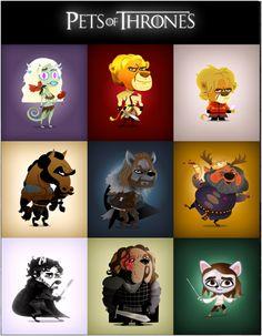 Pets of Thrones.