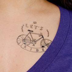 Let's Ride  Cute temporary tat