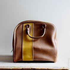 Brown bowling bag purse