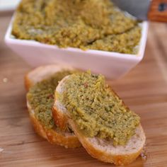 Olive Tapenade Clinton Kelly....can be made with black or green olives.