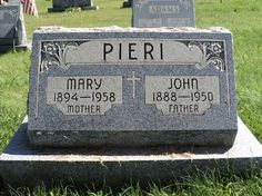 52 Ancestors: #39 Mary Bianchi Pieri (Tombstone Tuesday) #genealogy #familyhistory