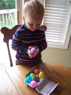 bag idea, kids activity bags, plastic egg, busi bag, egg cartons, cheap busy bags, easter eggs, toddler, kiddo