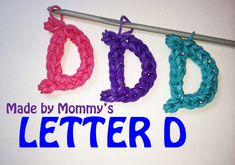 How To Make Letter B With Loom Bands