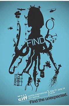 "Seattle International Film Festival ""Find"" posters"