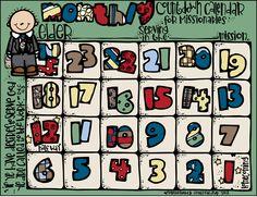 Melonheadz LDS illustrating: Missionary Count Down Calendar