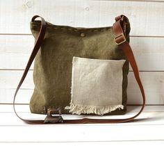 Made in Paris Cross body bag /  Messenger bag / Laptop by ikabags,