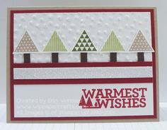 Geometric Christmas Trees 1 by WIP Paper Crafts - Cards and Paper Crafts at Splitcoaststampers