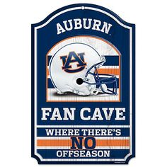 NCAA Fan Cave Wood Sign: Does your team spirit last all year? Show off your pride with this unique sign in your home!