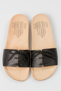 Style: Minimal + Classic: Charlotte Stone sandal reminds me of Dr Scholls