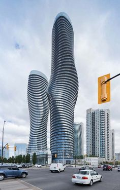"""Absolute Towers"": The architecture team's first projects outside China, these twin organically shaped towers were recently completed in Mississauga, Canada 