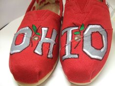OHIO STATE Buckeyes Made to Order Custom TOMS. $85.00, via Etsy.