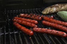 Marinated, grilled hot dogs.  Try this next time you are going to grill and your guests will ask for more...    #myhttender