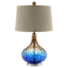 Found it at Wayfair - Shelley Table Lamp in Blue