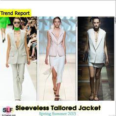 Sleeveless Tailored Jacket Trend for Spring Summer 2015.Acne Studios, Nina Ricci, and Lanvin #Spring2015 #SS15 #blazer