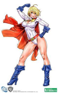 Power Girl Anime Style by Shunya Yamashita