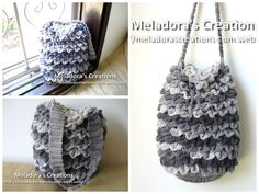 Crocodile Stitch Draw Bag – Free Crochet Pattern from Meladora's Creations