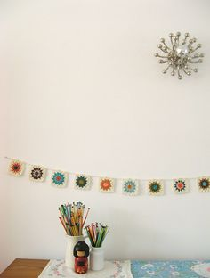 crochet Granny Square Garland by Dottie Angel on Flickr