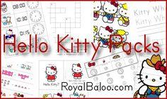 Hello Kitty Pack hello kitti, idea, kitti printabl, homeschool, kindergarten, educ, hello kitty, preschool, kid
