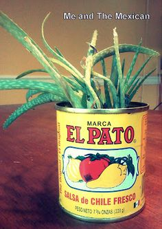 El Pato Cans-- cute to use as a jar for a Fiesta party