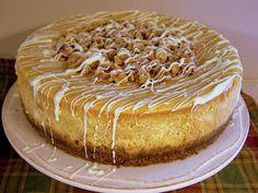white chocolate pumpkin cheesecake! Perfect fall dessert.