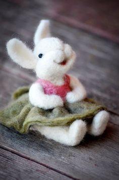 Items similar to Needle Felted wool Bunny Rabbit  - needle felted animals - Bear Creek Bunnies on Etsy