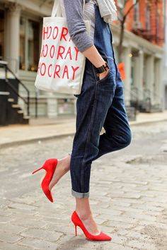 red shoes, heel, red pump