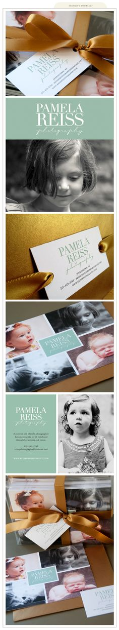 Branding by Silverbox Creative Studio for Pamela Reiss Photography #photographer #packaging #presents #gift #boxing #wrapping #presentation