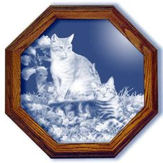 Hobbes and Topper Cat Large Octagon Mirror for $118.96