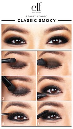 SMOKY AND FIERCE are the two words of the day elfettes! If you haven't mastered this look yet, you're going to be a complete pro after you try this easy tutorial. Our model Leslie was perfect for this look! Click through to try these six steps and feel free to switch out the colors for something more summery.