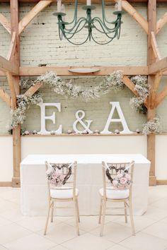 Romantic Wedding Ceremony Decor / Dasha Caffrey Photography