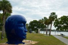 """Untitled Head"" by Jun Kaneko / HERALD-TRIBUNE PHOTO BY ELAINE LITHERLAND"