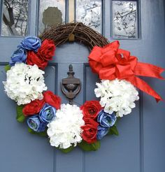 4 of July wreath. super cute!