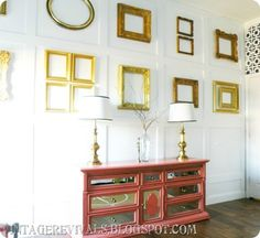 Gallery Wall: love it. Simple, yet striking. The whole bedroom is gorgeous an a great blog too!
