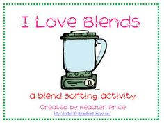 I love Blends sorting freebie. - Re-pinned by @PediaStaff – Please Visit http://ht.ly/63sNt for all our pediatric therapy pins