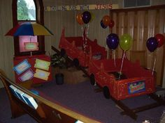 For the Bible Study at VBS 2013 theme park, roller coasters, box