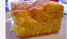The Best Cornbread Ever (made with cornbread mix and white cake mix)