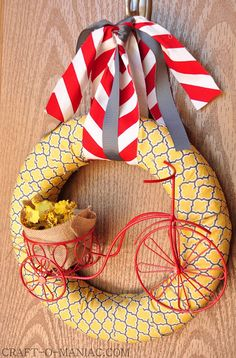 DIY Bicycle Summer Wreath