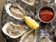 """""""Nude"""" Raw Oysters with Sauces 