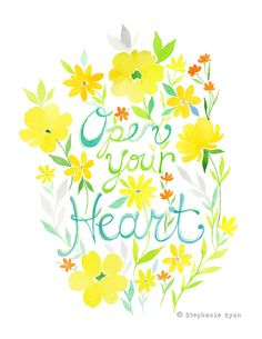 Open your Heart Art Print by stephanieryanart on Etsy, $22.00