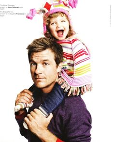 jason bateman and his adorable daughter (men spending time with their kids? hot)