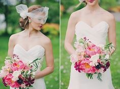 Floral Design: Jaclyn Journey Photography: Mollie Crutcher  Vintage-Botanical-Wedding-Inspiration Wedding Gown: The Couture Closet