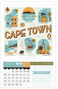 Wish you were here calendar - Cape Town | Ask Alice
