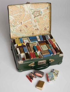 A miniature suitcase library