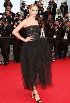 Natasha Poly in Oscar de la Renta at Cannes 2014