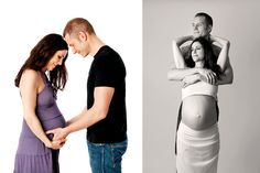 Couples pregnancy photography taken by Nemi Miller in her West London studio