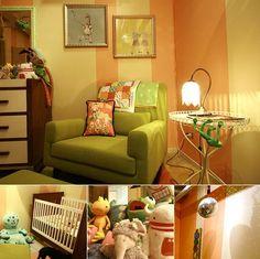 This is my favorite room. color schemes, chairs, green, colors, babies nursery, babi room, babi nurseri, stripe, babies rooms