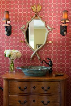 Not so sure about the mirror and wallpaper but I love the rest!