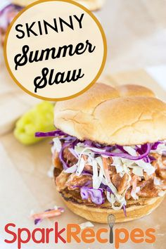 One of my favorite low-cal slaws! Great on a sandwich or by itself!| via @SparkPeople #summer #coleslaw #cookout #picnic #recipe